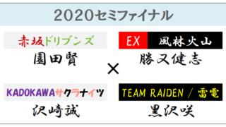 【Mリーグ2020セミファイナル】(2021年04月15日1回戦)ドリブンズvs風林火山vsサクラナイツvs雷電